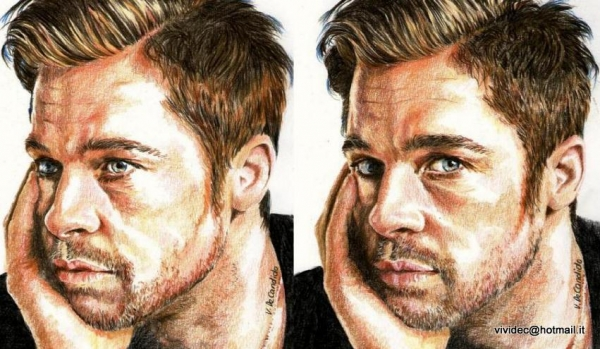 Brad Pitt par vividec